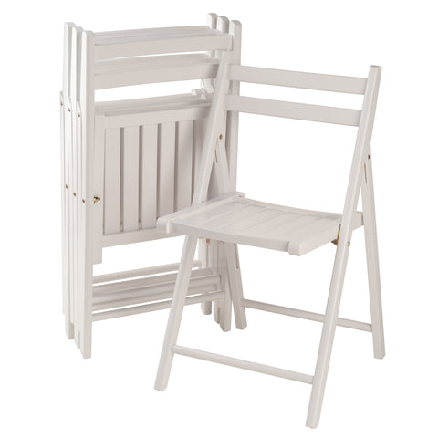 Winsome Wood Robin 4-PC Folding Chair Set White