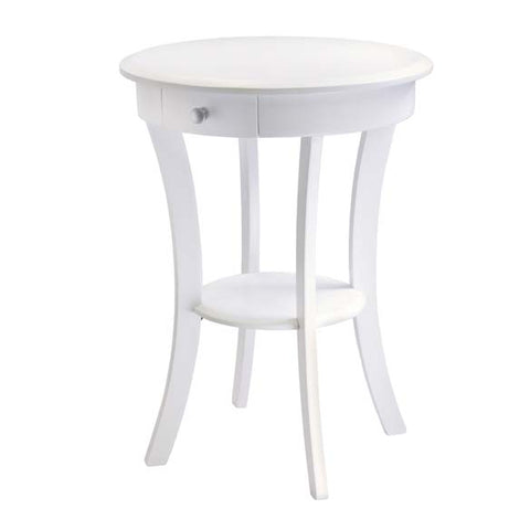 Winsome Wood Sasha Round Accent Table White |Pier 54 Home and Outdoor