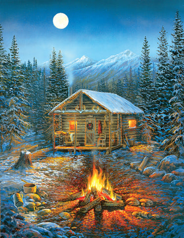 A Cozy Holiday 1000 Piece Jig Saw Puzzle - Pier 54 Home and Outdoor