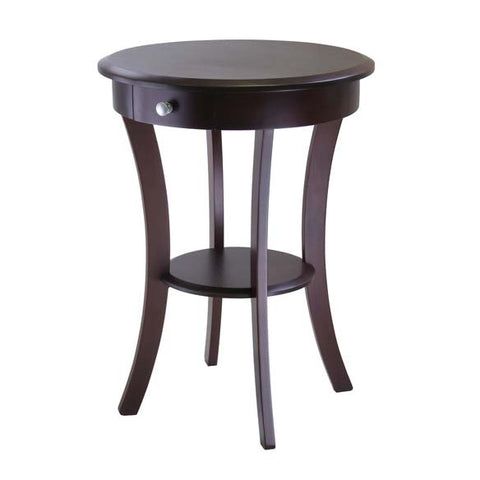 Sasha Round Accent Table with Drawer