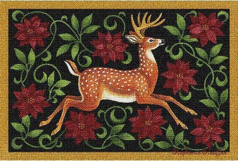 Elegant Christmas Deer Place Mat Sold As a Set of Four