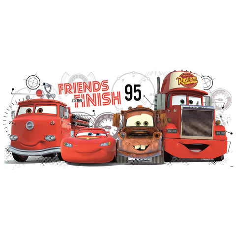 Disney Pixar Cars Friends to the Finish Giant Wall Decal