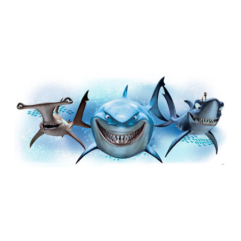 Disney Pixar Finding Nemo Sharks Giant Wall Decal