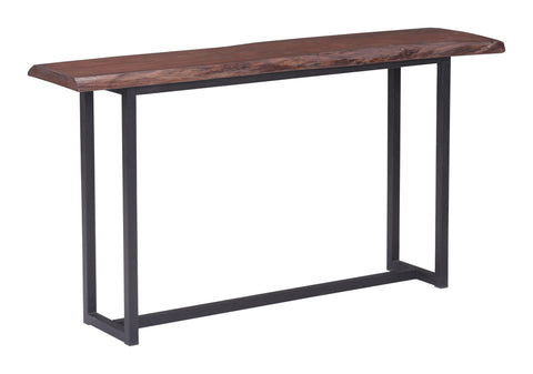 Papillion Console Table Distressed Cherry Oak
