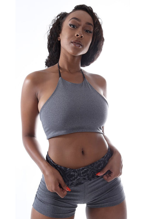 """The Midi Halter"" - Heather Grey"