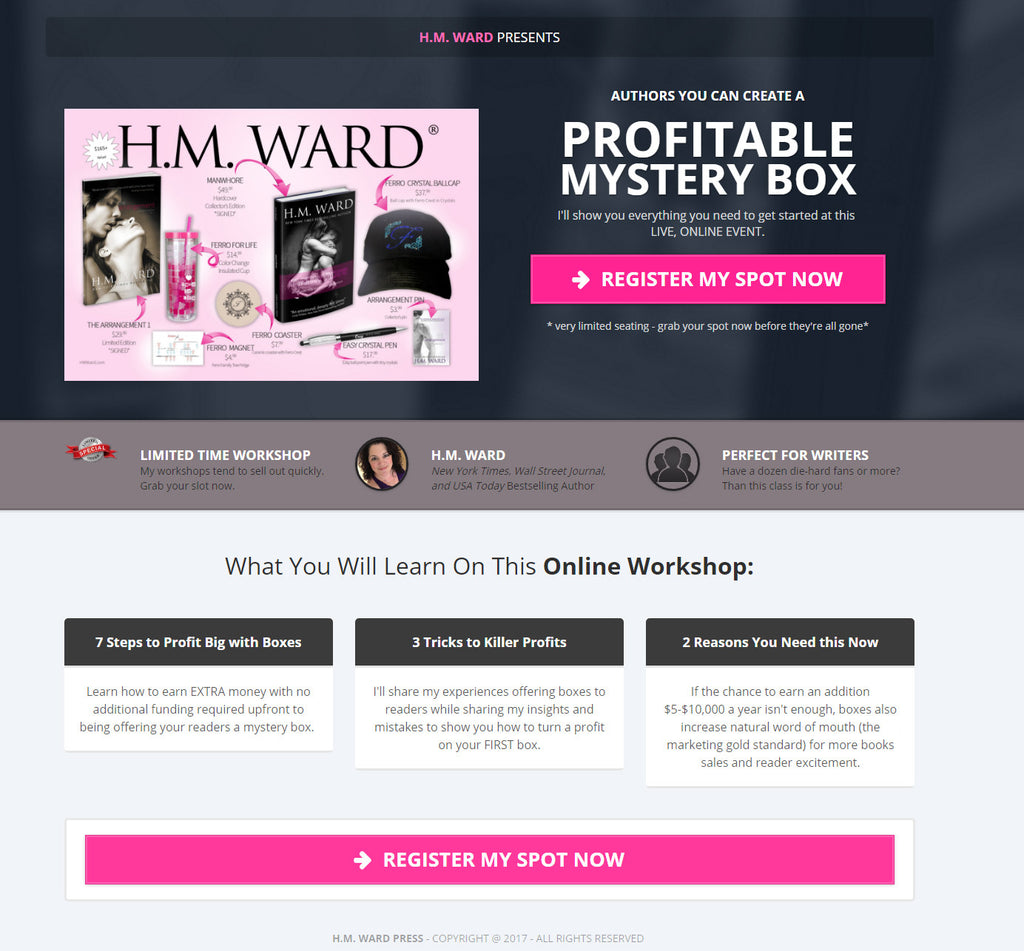 ONLINE WORKSHOP: Creating a Profitable Author Subscription Box