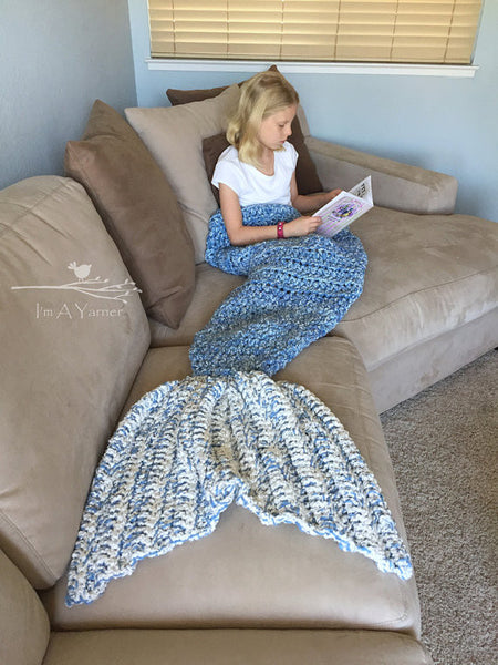 Mermaid Tail Blanket - I'm A Yarner