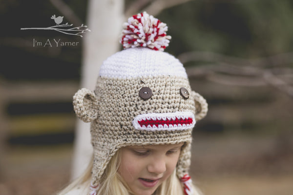 Sock Monkey Hat - I'm A Yarner
