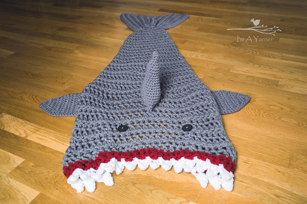 Crocheted Shark Blanket
