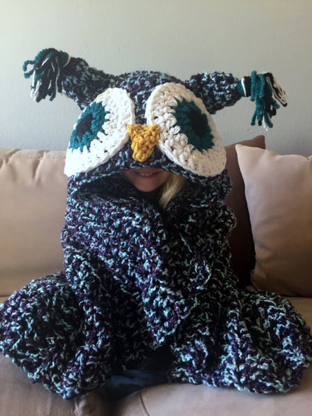 Hooded Owl Blanket