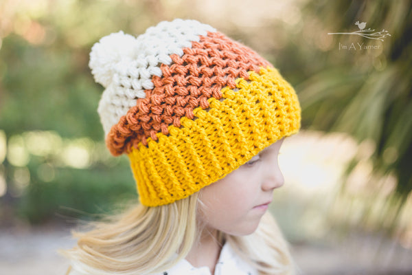Candy Corn Hat - I'm A Yarner