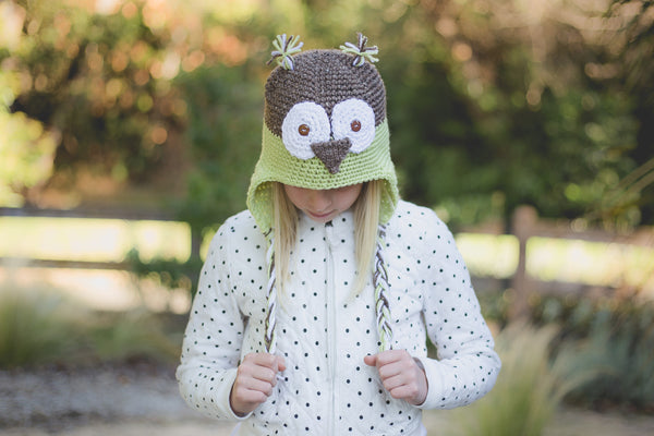 Purple Owl Hat - I'm A Yarner