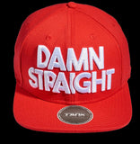 Damn Straight Snapback - Red/White