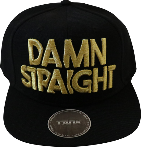 Damn Straight Snapback - Black/Gold