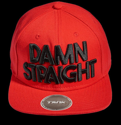 Damn Straight Snapback - Red/Black