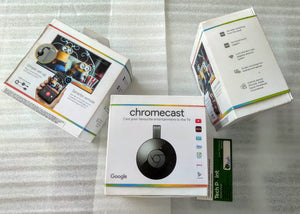 Google Chromecast 2 Media Streaming Device (Black) - Open Box Unsed Devices