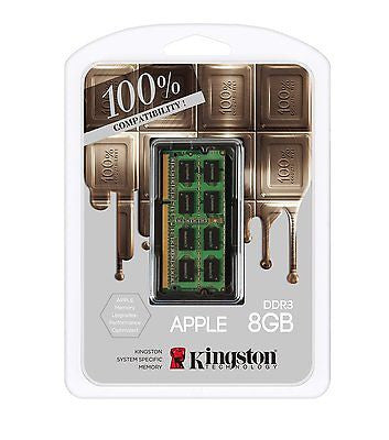 Kingston Mac Memory 8GB DDR3L-1600(PC3-12800) SO-DIMM 1.35V (KTA-MB1600L/8G) -