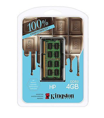 Kingston Technology 4GB 1600MHz PC3-12800 1.35V SODIMM Memory for Select HP/Comp -