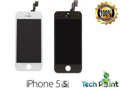 Apple Iphone 5S LCD Display+Touch Screen Replacement Digitizer White & Black -  - 1