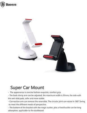 Baseus Universal Windshield & Dashboard Mobile Phone Car Mount Holder Cradle .. -  - 2