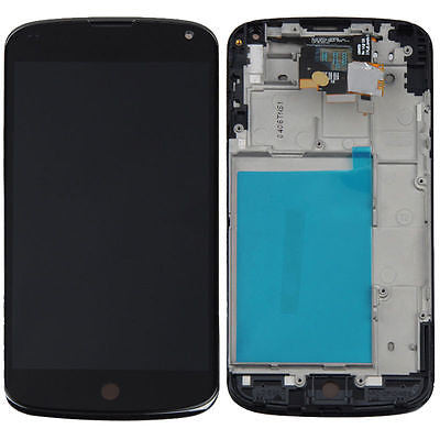 LG Nexus 4 E960 Replacement LCD Display Touch Digitizer Screen With Frame -  - 1