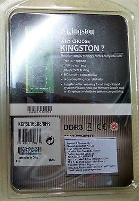 Kingston 8GB DDR3 RAM - Compatible with all brands laptop -  - 2