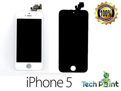 iPhone 5 LCD Display + Touch Screen Digitizer Apple Black / White Replacement -  - 1