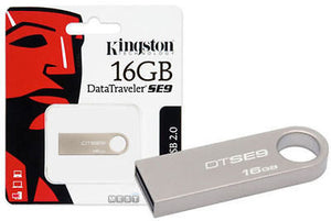 16GB USB Kingston Pen Drive DataTraveler SE9 Metal Original 16 GB free shipping -