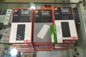 Mi 20000mAH Li-Polymer Power Bank 2i (White/ Black) with 18W Fast Charging