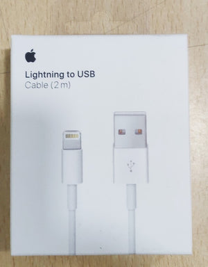 100% Original Apple™ 8 pin Lightning USB Data 2 meter Cable iPhone iPad 5 / 5c / 5s / 6s /6s iPhone X [Sealed box]