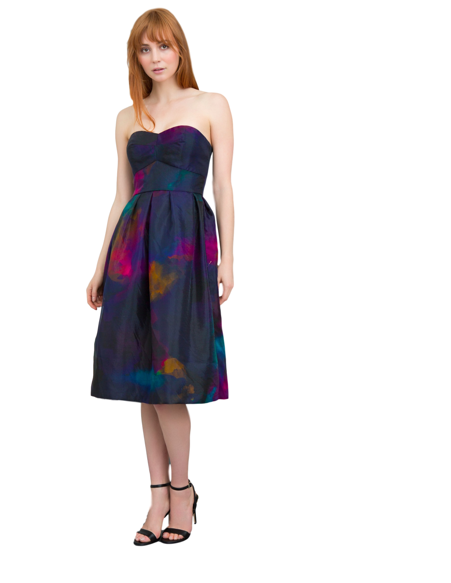 Hutch Strapless Cocktail Dress (Navy and Pink) – Lace and Scone, LLC