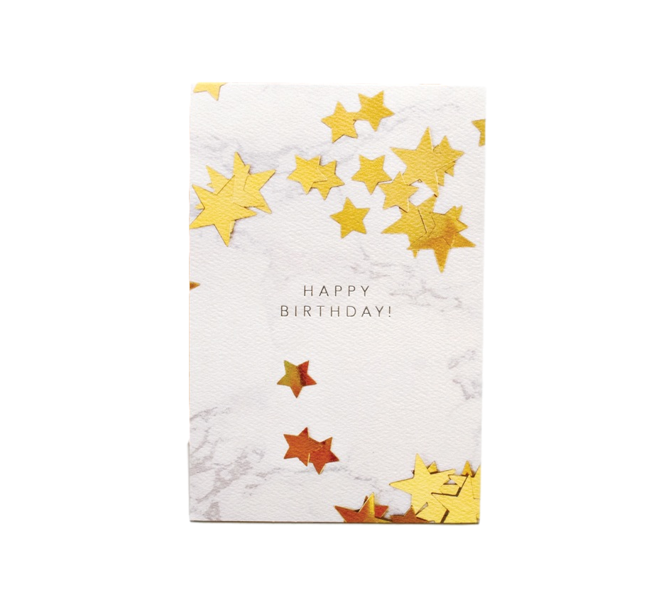 Happy Birthday Stars Card