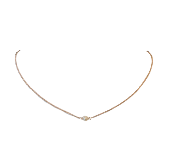 Rose Gold Baby Pearl Choker