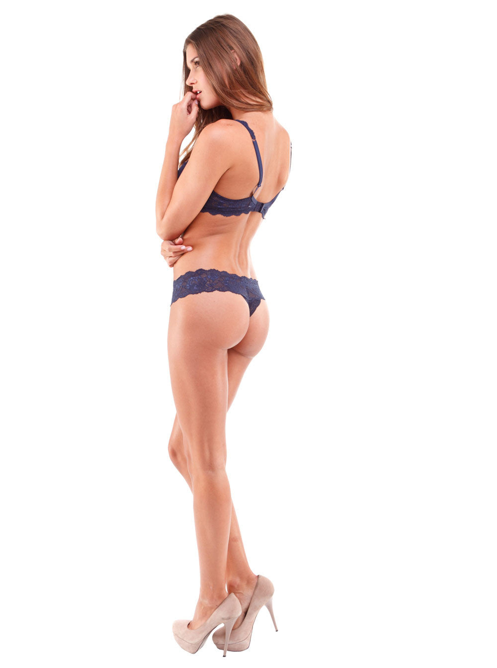 Black Never Say Never Cutie Lace Thong