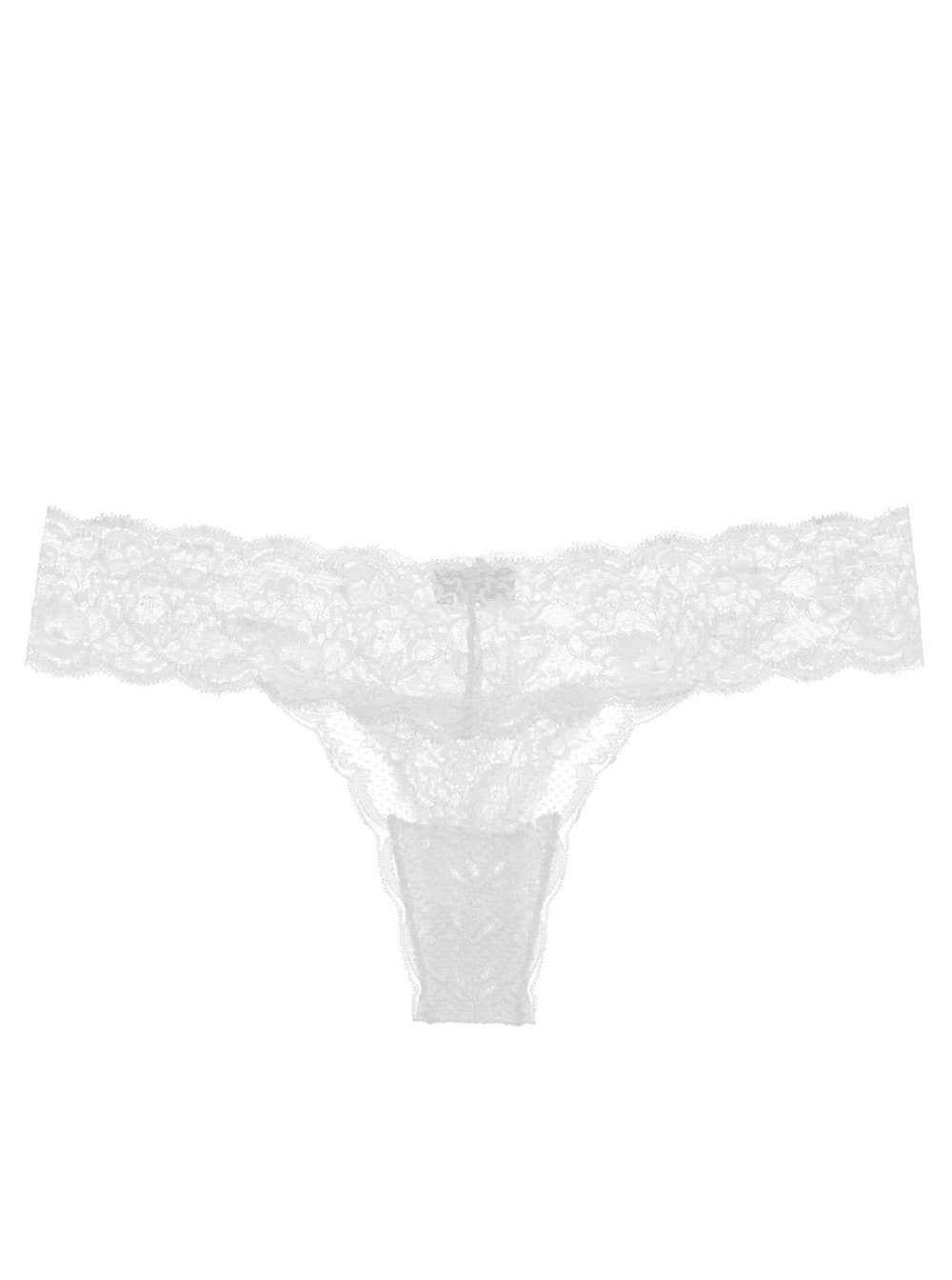 White Never Say Never Cutie Lace Thong
