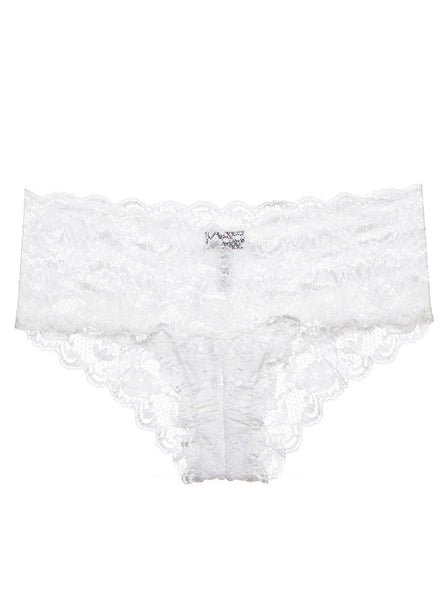White Never Say Never Hottie Lace Hotpant