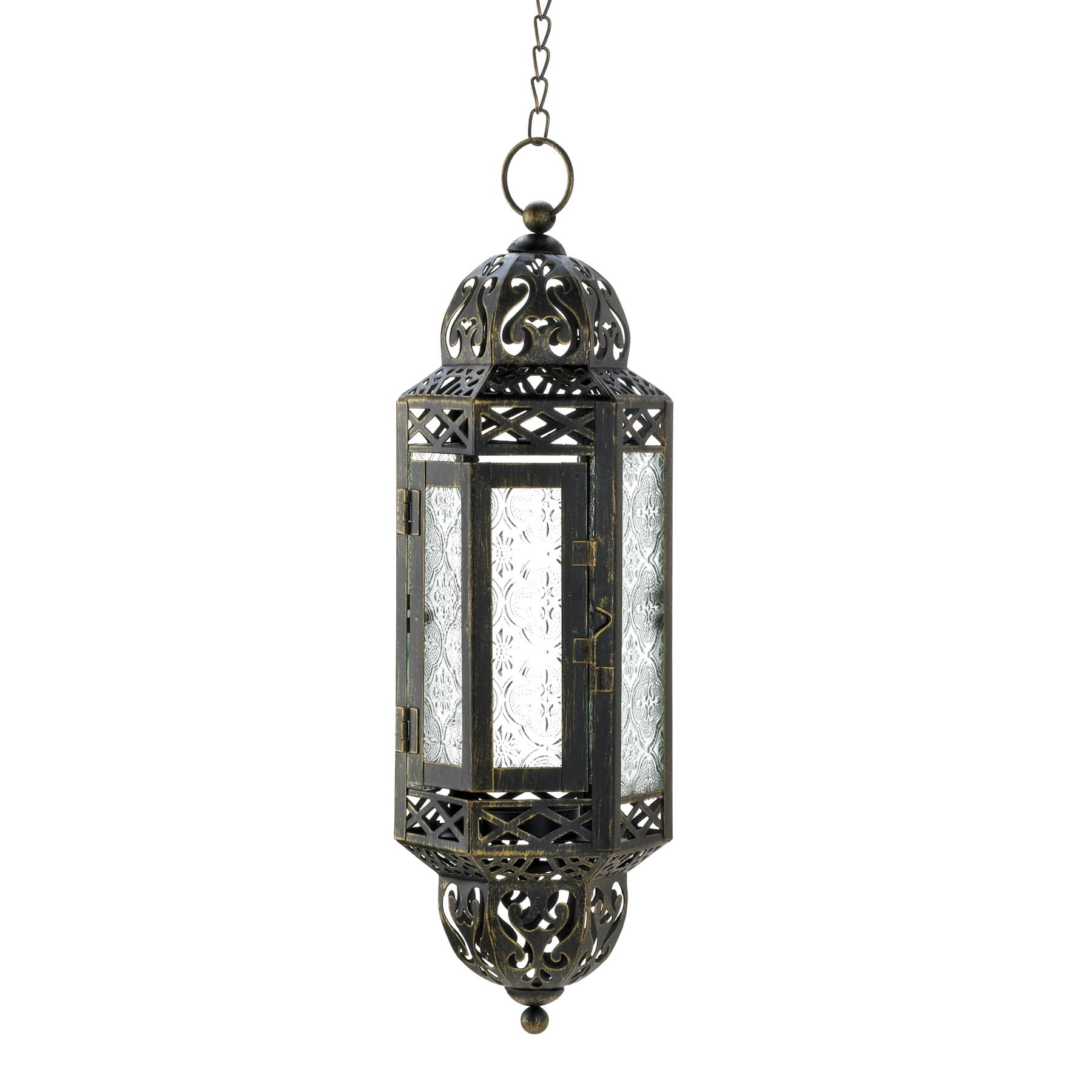 Gallery of Light Victorian Hanging Candle Lantern - 10015424