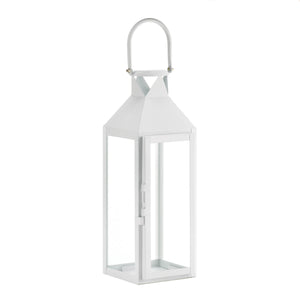 Gallery of Light White Manhattan Candle Lantern - 10015429