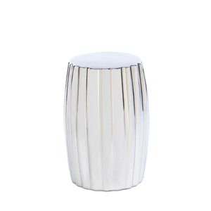 Accent Plus Silver Decorative Stool - 10015686