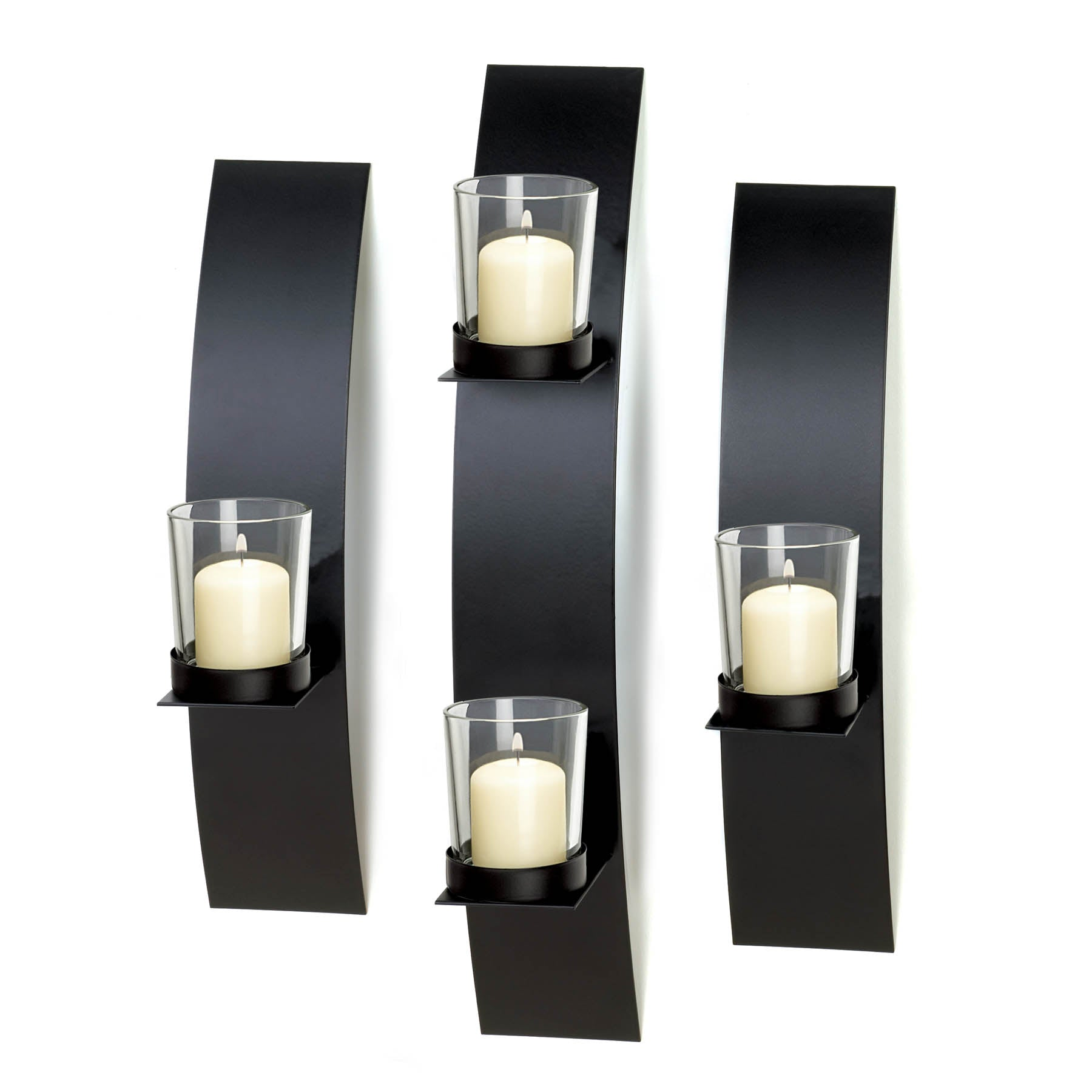 Gallery of Light Contemporary Wall Sconce Trio - 10015844