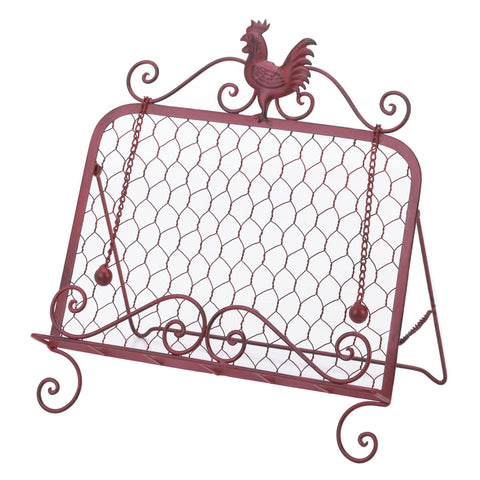 Accent Plus Red Rooster Cookbook Stand - 10015878