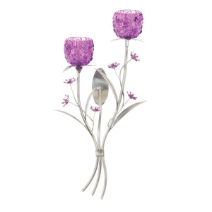 Gallery of Light Fuchsia Blooms Wall Sconce - 10015951