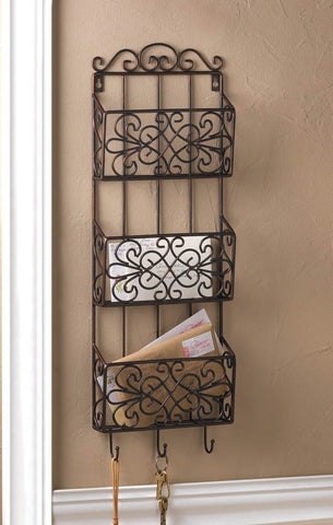 Accent Plus Vintage Charm Triple Wall Rack - 10015958