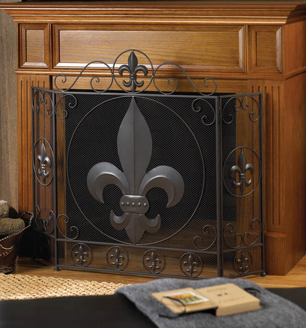 Accent Plus Fleur-De-Lis Fireplace Screen - 10016005