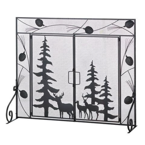 Accent Plus Woodland Wonder Fireplace Screen - 10016006
