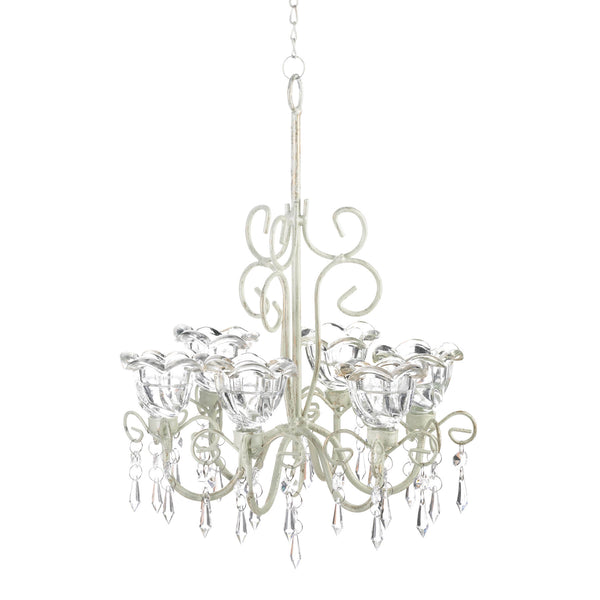 Gallery of Light Crystal Blooms Candle Chandelier - 10016076