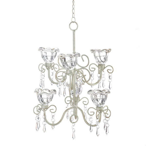 Gallery of Light Crystal Blooms Double Chandelier - 10016077