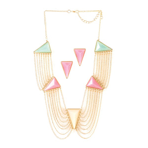 Breezy Couture Modern Art Deco Jewelry Set - 10016112