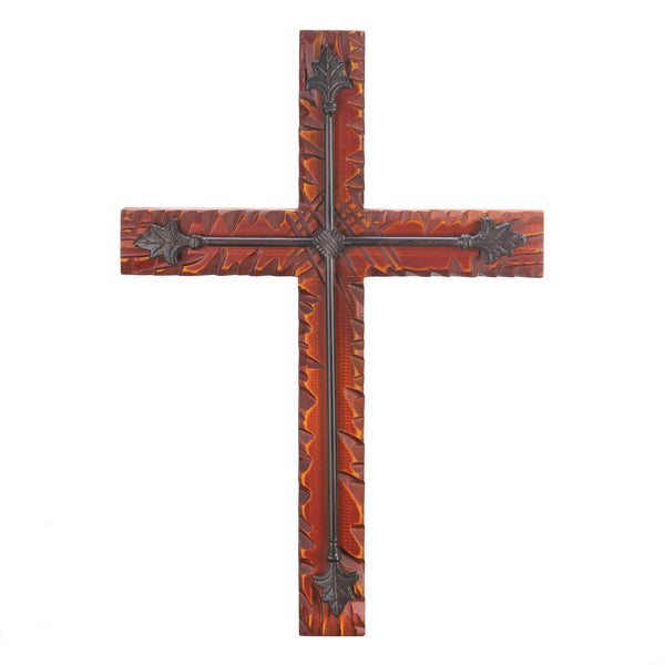 Wings of Devotion Wood And Iron Wall Cross - 10016167
