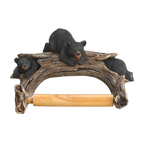 Accent Plus Black Bear Toilet Paper Holder - 10016202